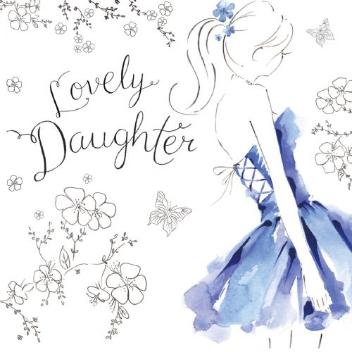 NES25 – Lovely Daughter Birthday Card
